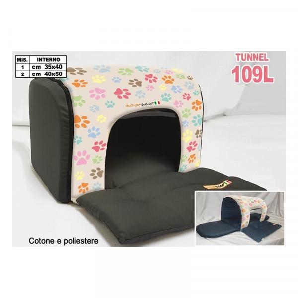 Casetta per Cani a Tunnel di Nasonero - Fantasia Orme