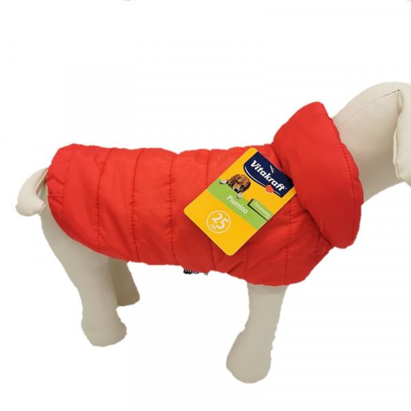 """Piumino per cani stile """"100 grammi"""", colore rosso - Collezione Vitakraft"""