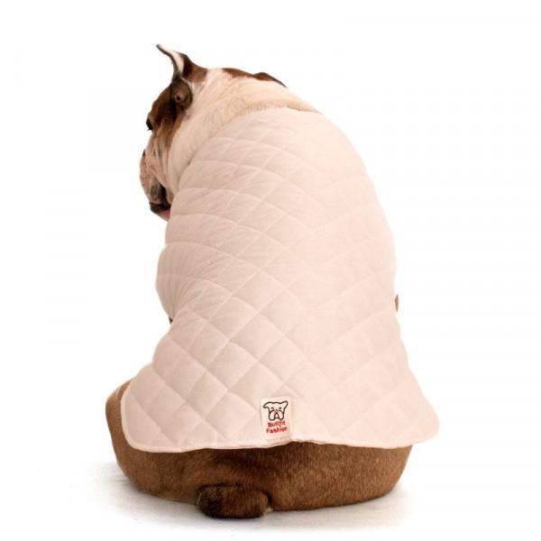 Mantellina Cooler per Bulldog Inglese colore Bianco
