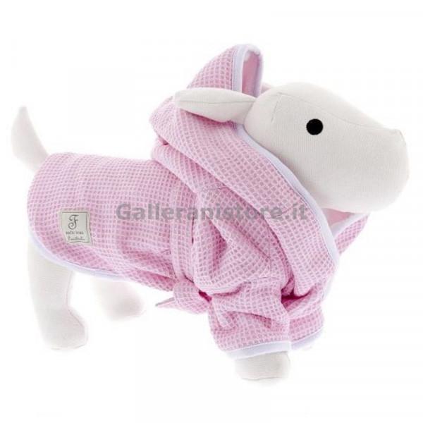 """Accappatoio per cani """"Bath Robe Rosa"""" - Linea Ferribiella"""