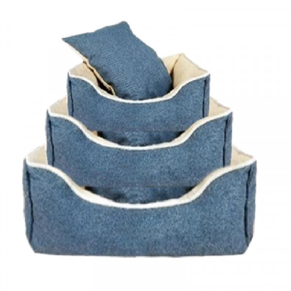 Cuccia per cani sfoderabile, colore blu - Nobleza