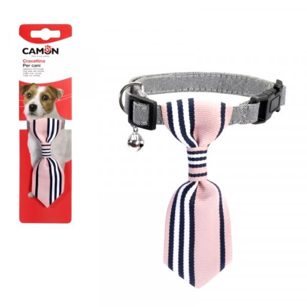 Collarino per cani con cravatta Rosa di Camon