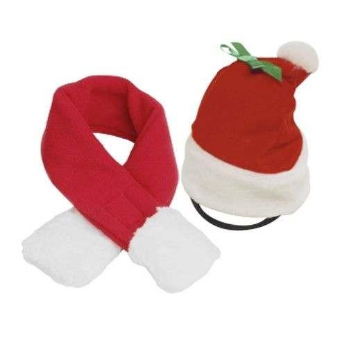 Cappello e sciarpa di Natale per cani
