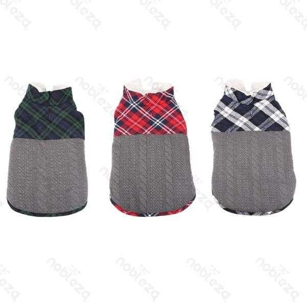 Cappotto fantasia scozzese per cani