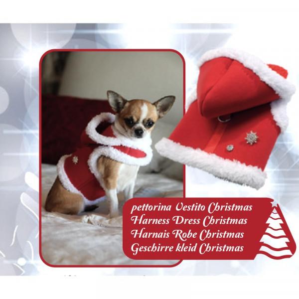 Pettorina natalizia per cani Christmas colore Rosso