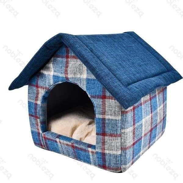 Pet House Blu Quadretti casetta per cani e gatti