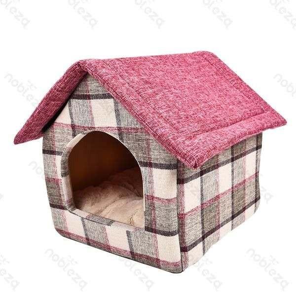 Pet House Rosa Quadretti casetta per cani e gatti