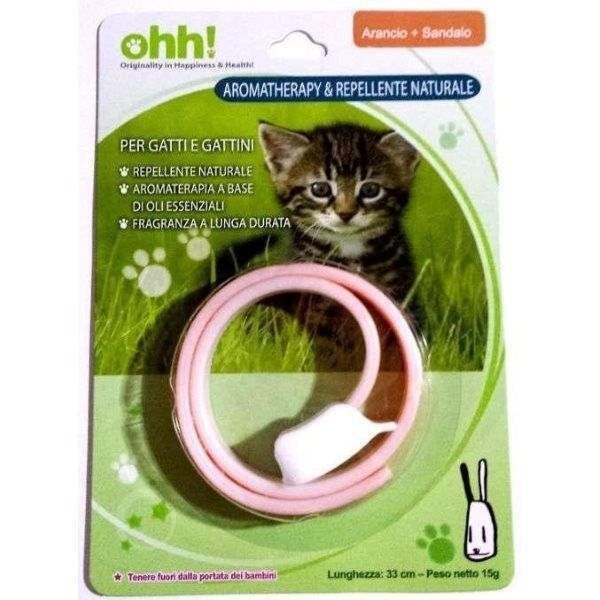 Collare per gatti AROMATHERAPY & Repellente Naturale - ARANCIO+SANDALO