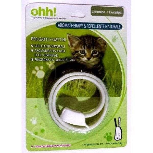 Collare per gatti AROMATHERAPY & Repellente Naturale - LIMONINA+EUCALIPTO