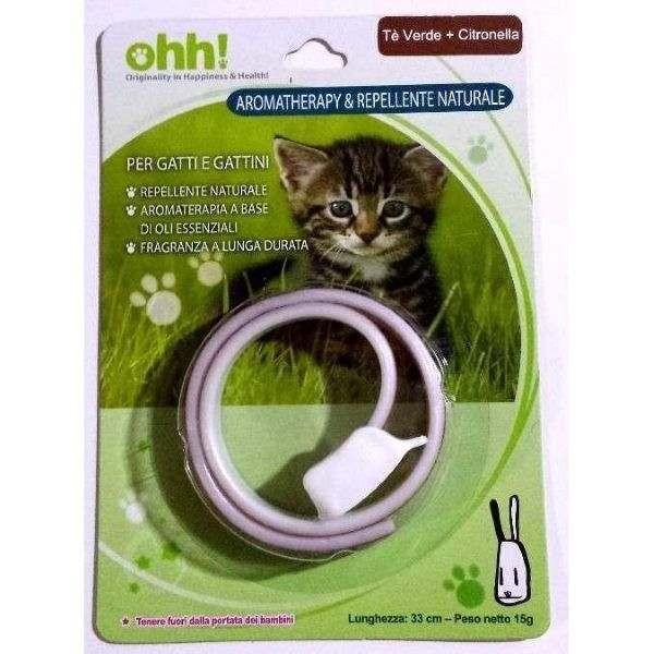 Collare per gatti AROMATHERAPY & Repellente Naturale - THE' VERDE + CITRONELLA