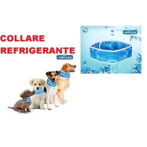 Collare refrigerante per cani, Azzurro Acqua misura L