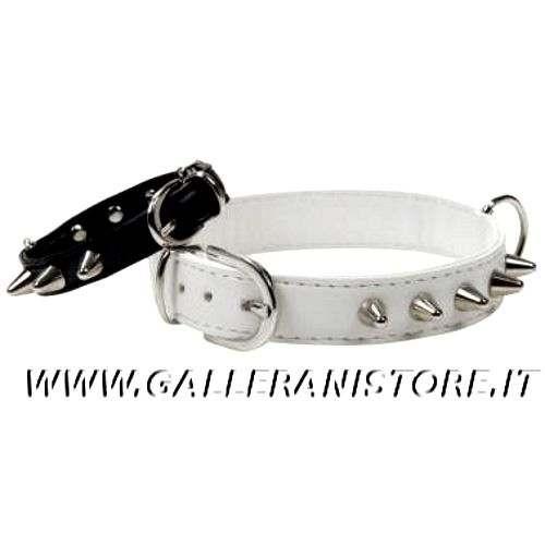 Collare PUNK Borchiato in ecopelle Made in Italy