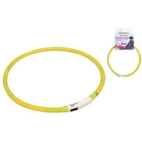 Collare Visible Led USB Giallo per cani - Croci