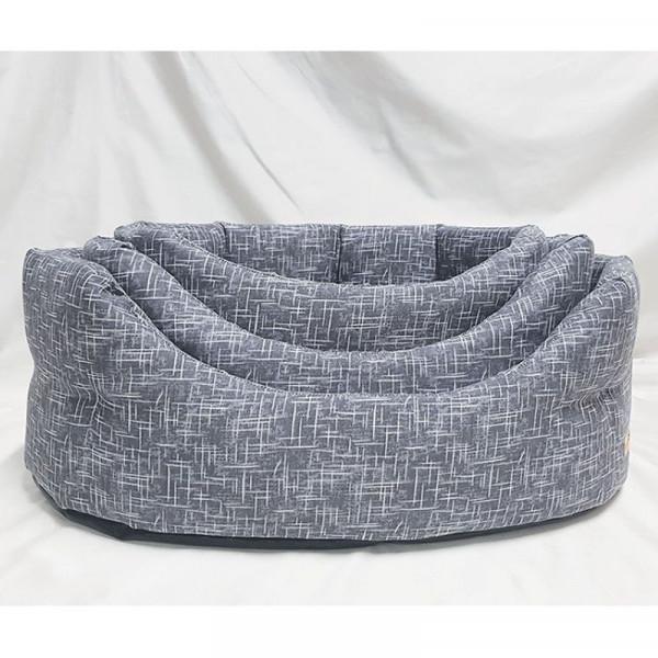 Cuccia per cani ovale Linea Eco, colore grigio - Nasonero