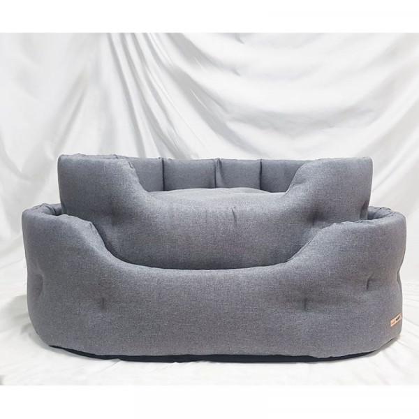 Cuccia per cani Linea Savana 2, colore grigio - Nasonero