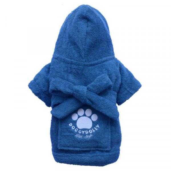 Accappatoio per cani Robe Blue Doggy Dolly - Taglia S