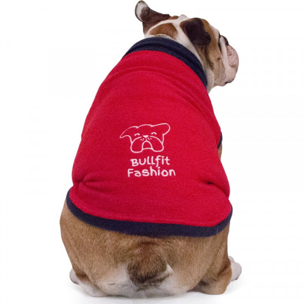 "Pile per Bulldog Inglese ""Melina"" Rosso"