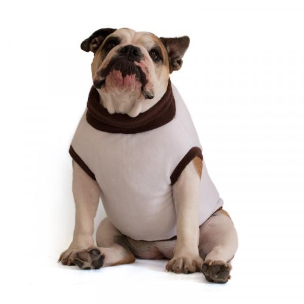 "Pile per Bulldog Inglese ""Melina"" Bianco e Marrone"
