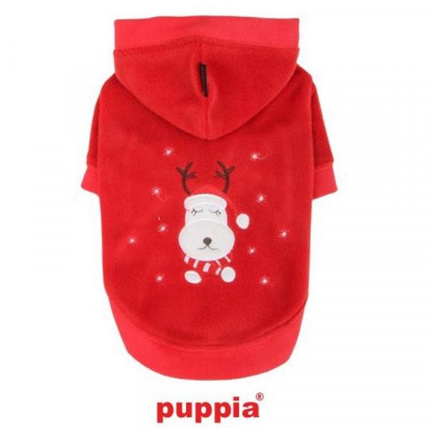 Felpa per cani Rudolph la Renna, Colore Rossa, Taglia Small - Puppia