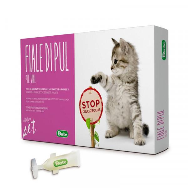 Fiale di Pul per gatti con Olio di Neem puro antiparassitario naturale