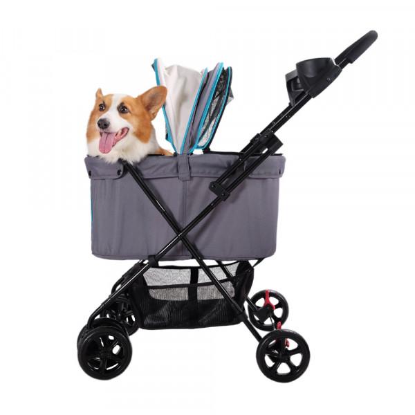 "Passeggino per cani ""Easy Strolling"", modello Simple Gray - Ibiyaya"