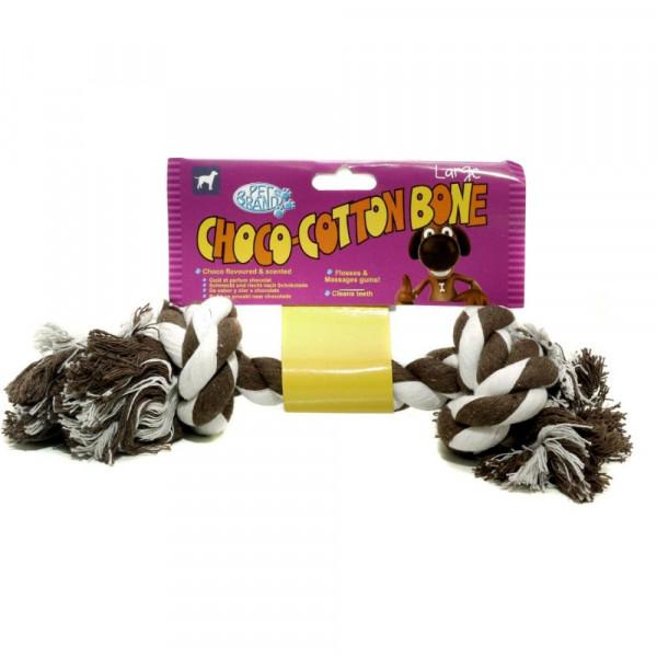 Choco-Cotton Bone Gioco in cotone per cani - Pet Brand