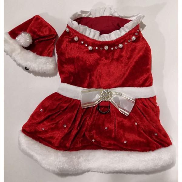 Vestiti Di Natale Per Cani.Vestito Di Natale Per Cani Santa Dress Noella