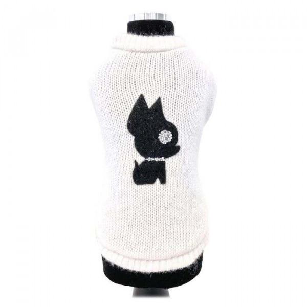 Irina bianco maglione per cani - Collezione Trilly tutti Brilli