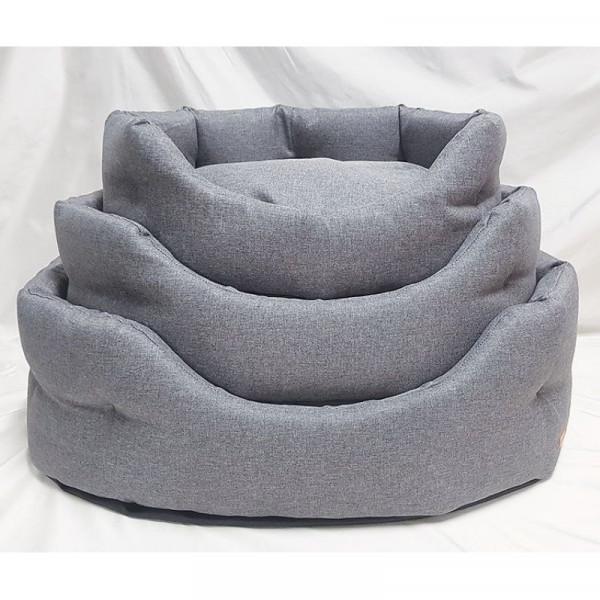Cuccia per cani Linea Savana 1, colore grigio - Nasonero