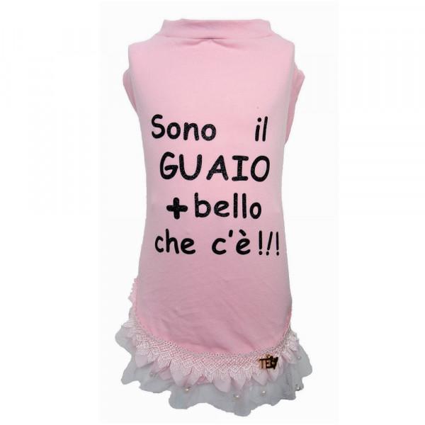 """Maglietta per Cani """"Love & Hate Pink"""" - Teo I'm Cool"""