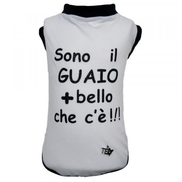 "Maglietta per Cani ""Love & Hate"" White - Teo I'm Cool"