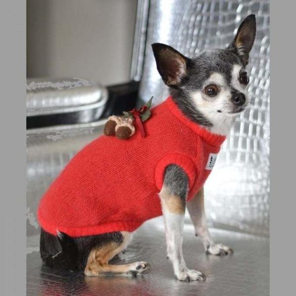 Floyd rosso maglione per cani - Collezione Trilly tutti Brilli