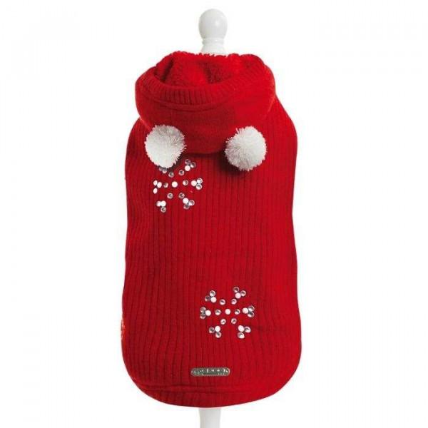 Lovey Red maglione natalizio per cani - Collezione Croci