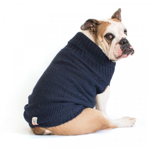 "Maglione per Bulldog Inglese ""Oliver"" Blu Navy"