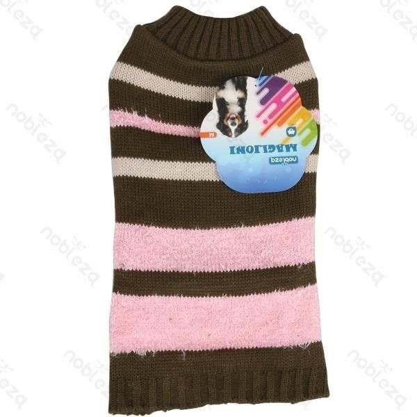 Maglione Stripe sweater verdone-rosa per cani - Nobleza