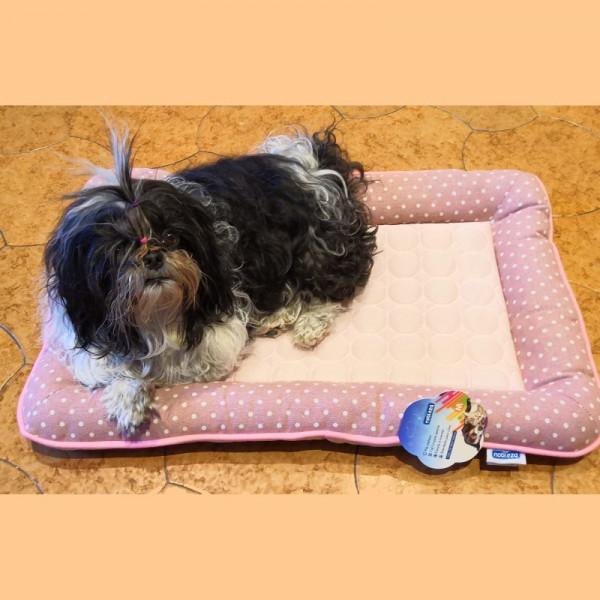 Materassino per cani rosa in tessuto fresco estivo - Arredo Casa