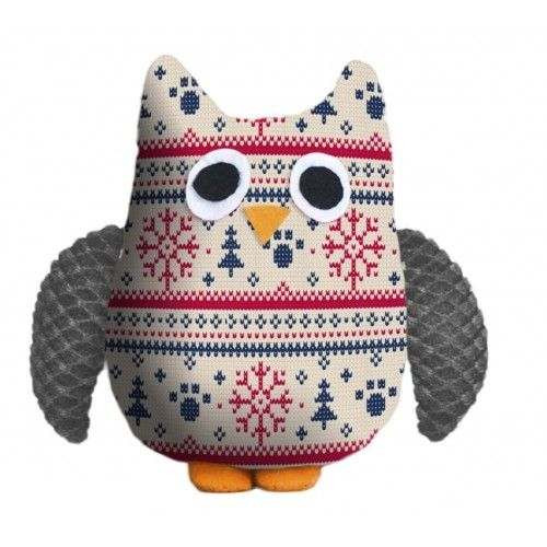 Christmas Plush Owl gioco per cani - PET BRAND
