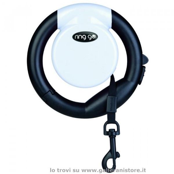 Guinzaglio per cani allungabile RING GO Bianco - Vitakraft
