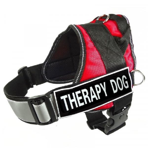 """Pettorina per cani """"Therapy dog"""" Rossa - Nobleza"""