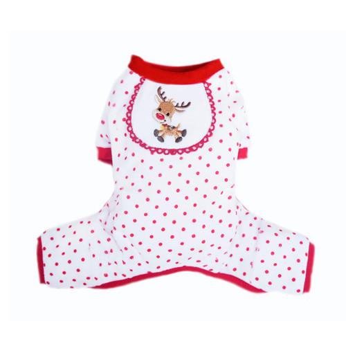 Pigiama per cani Reindeer Renna natalizia (Taglia L) - Pooch Outfitters