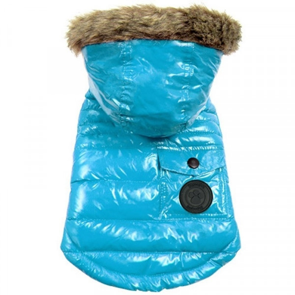 Giubbotto imbottito per cani piumino Winter Coat Ocean Blue