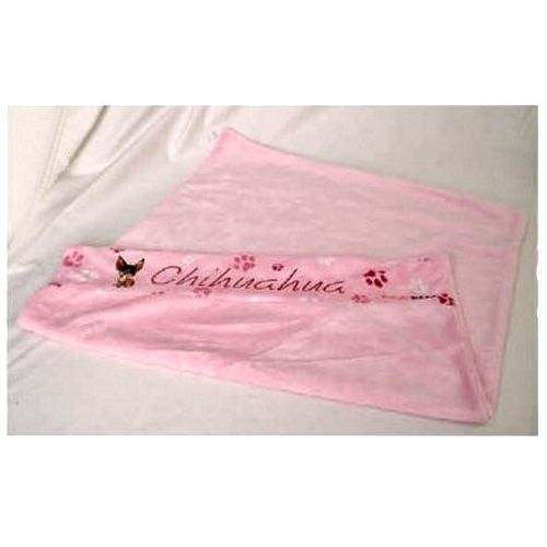 Plaid Chihuahua rosa per cani