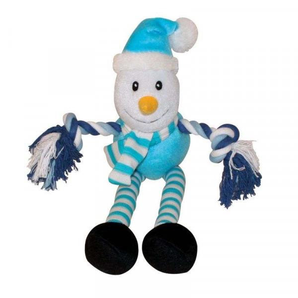 Snowman Christmas Toy gioco in peluche per cani