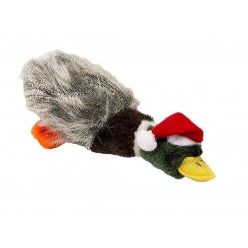 Anatra natalizia gioco per cani in peluche con sonoro