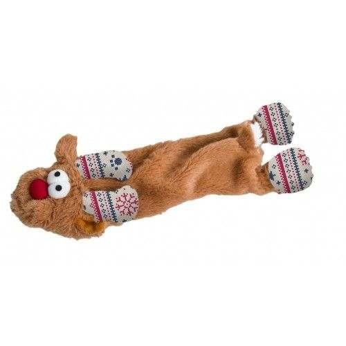 Rudolf the Reindeer gioco per cani in peluche e tessuto con sonoro