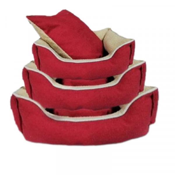 Cuccia per cani sfoderabile, colore rosso - Nobleza