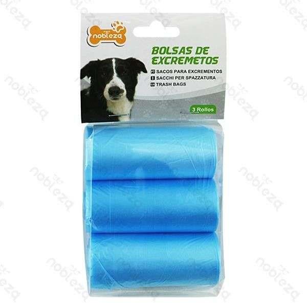 Sacchetti igienici azzurri per cani