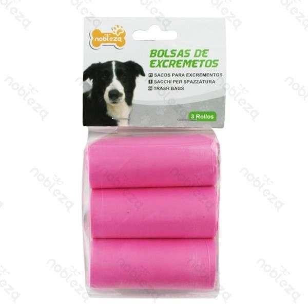 Sacchetti igienici rosa per cani