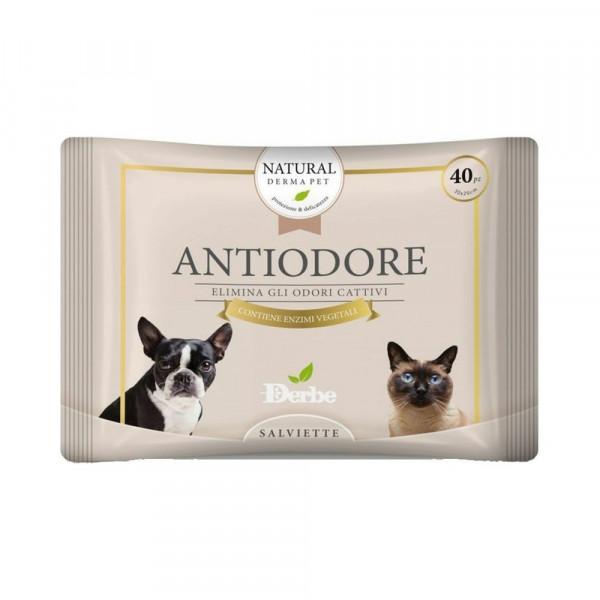 Salviette antiodore per cani gatti e cuccioli Derbe