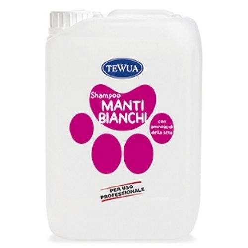 Tanica 10 Lt. Shampoo professionale Manti Bianchi - Tewua